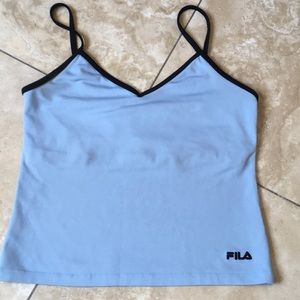 Fila two in one spaghetti strap cropped tank top